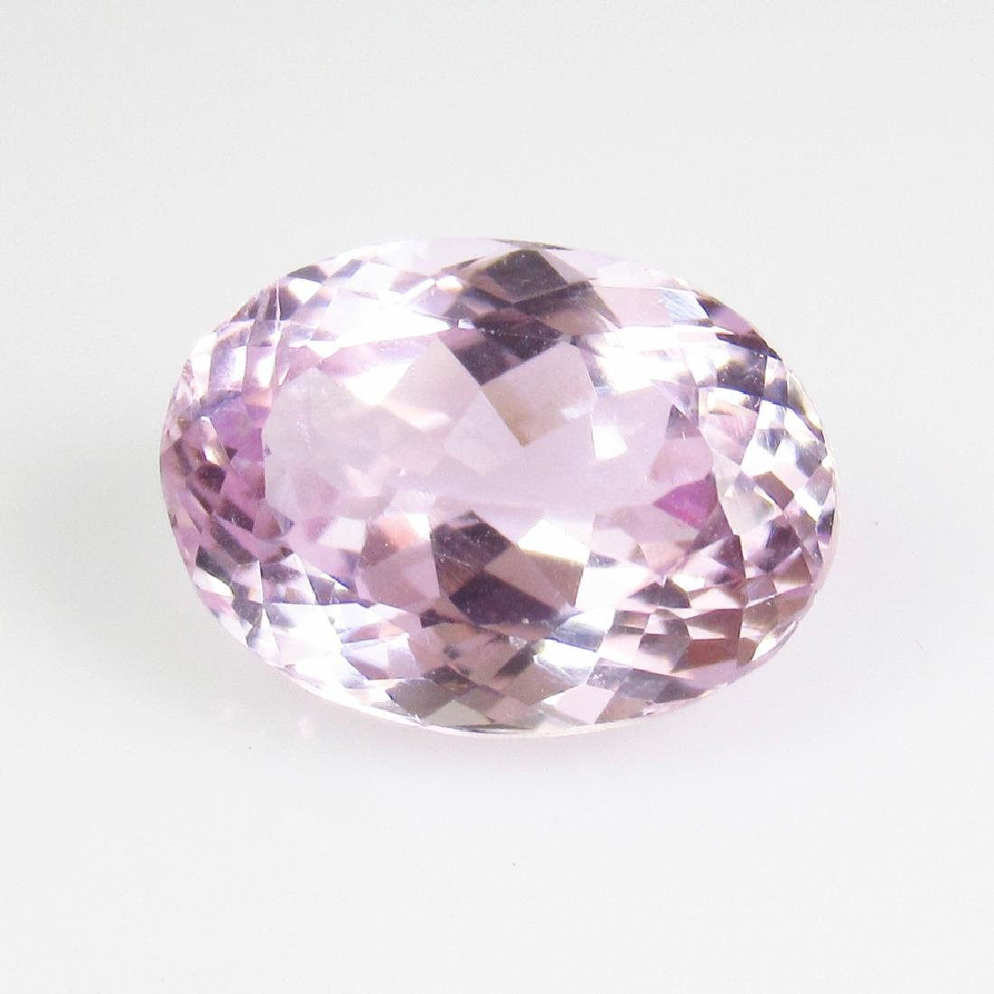 7.03 Ct Genuine Sweet Pink Kunzite Oval Cut
