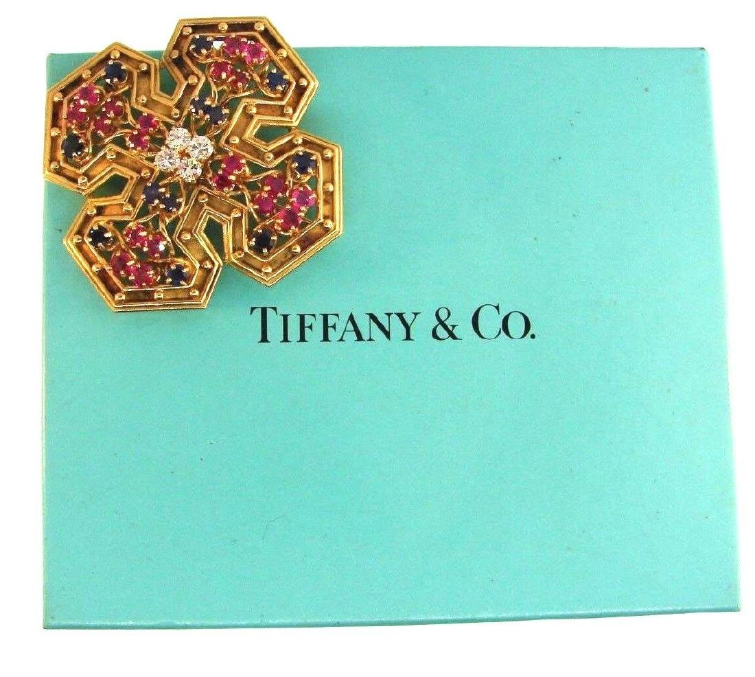 TIFFANY & CO. 18k YG, Diamond, Ruby & Sapphire Maltese - 10