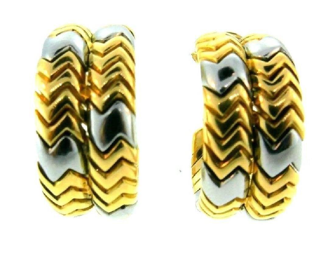 BVLGARI 18k Yellow Gold & Stainless Steel SPIGA