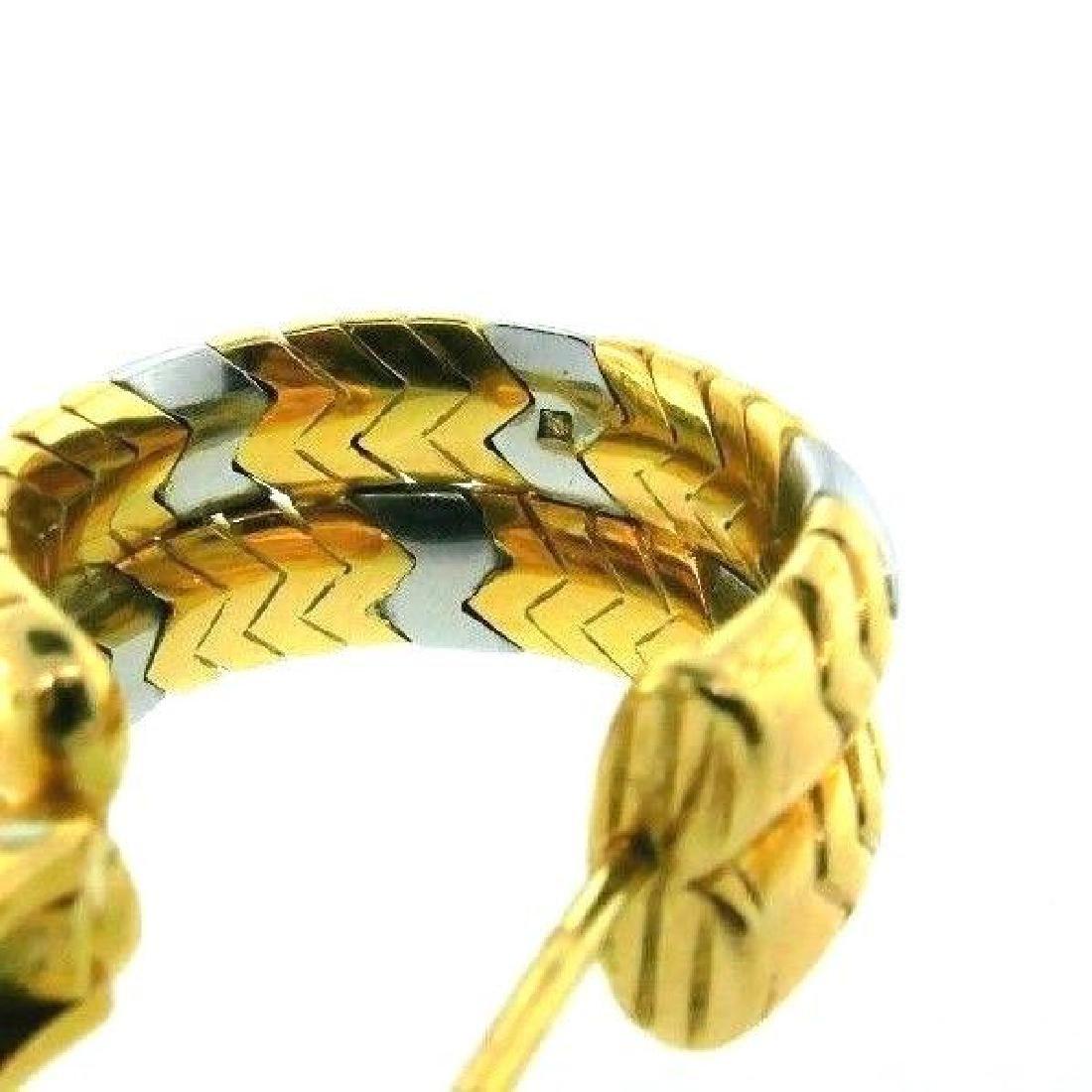 BVLGARI 18k Yellow Gold & Stainless Steel SPIGA - 4
