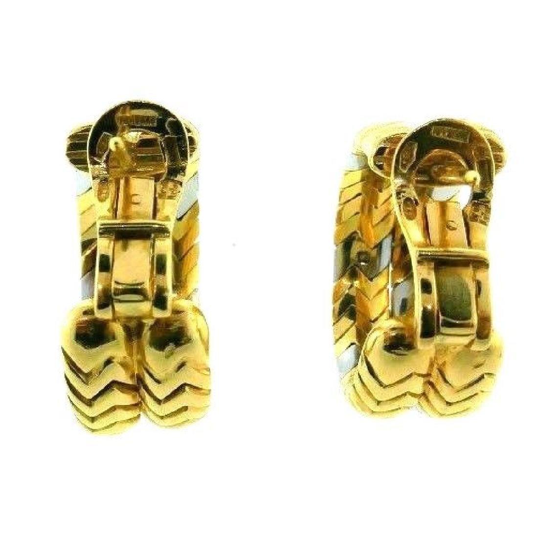 BVLGARI 18k Yellow Gold & Stainless Steel SPIGA - 6