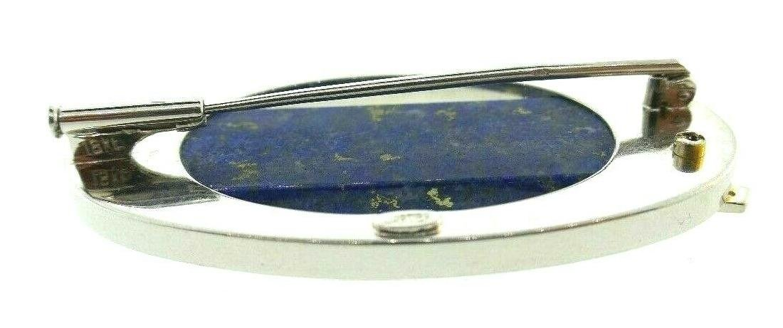 CARTIER London 18k Gold, Diamond & Lapis Brooch Clip - 9