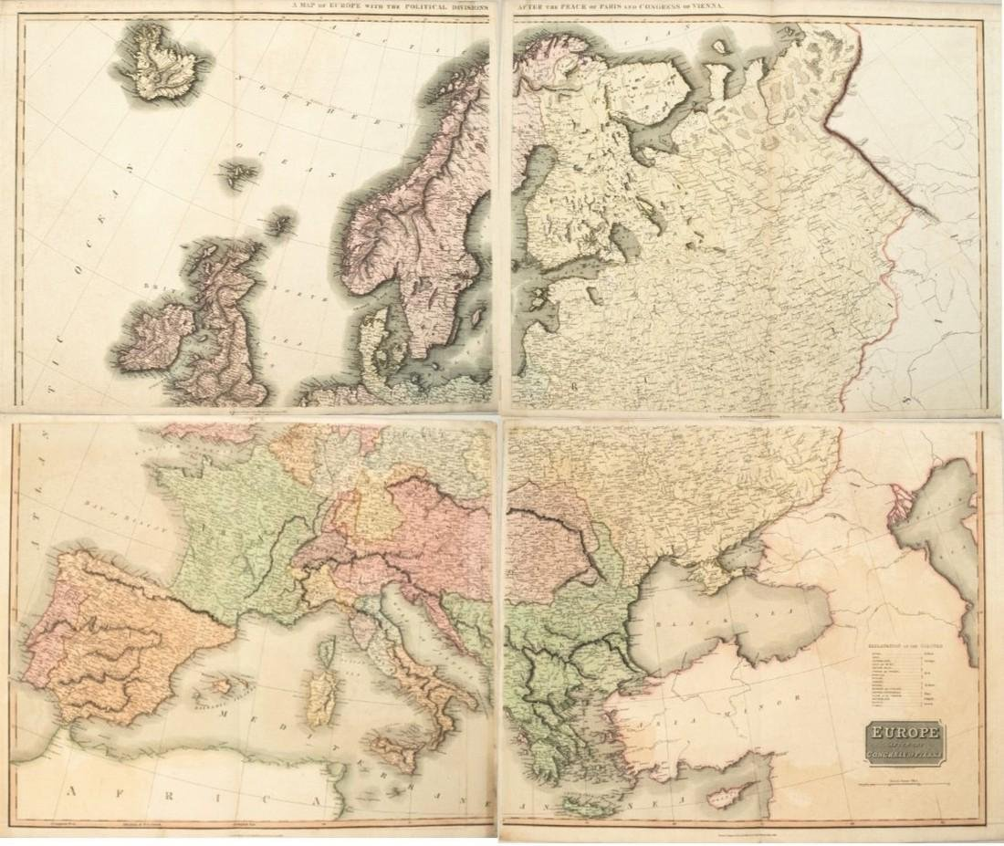 1817 Thomson Map of Europe -- Europe after the Congress
