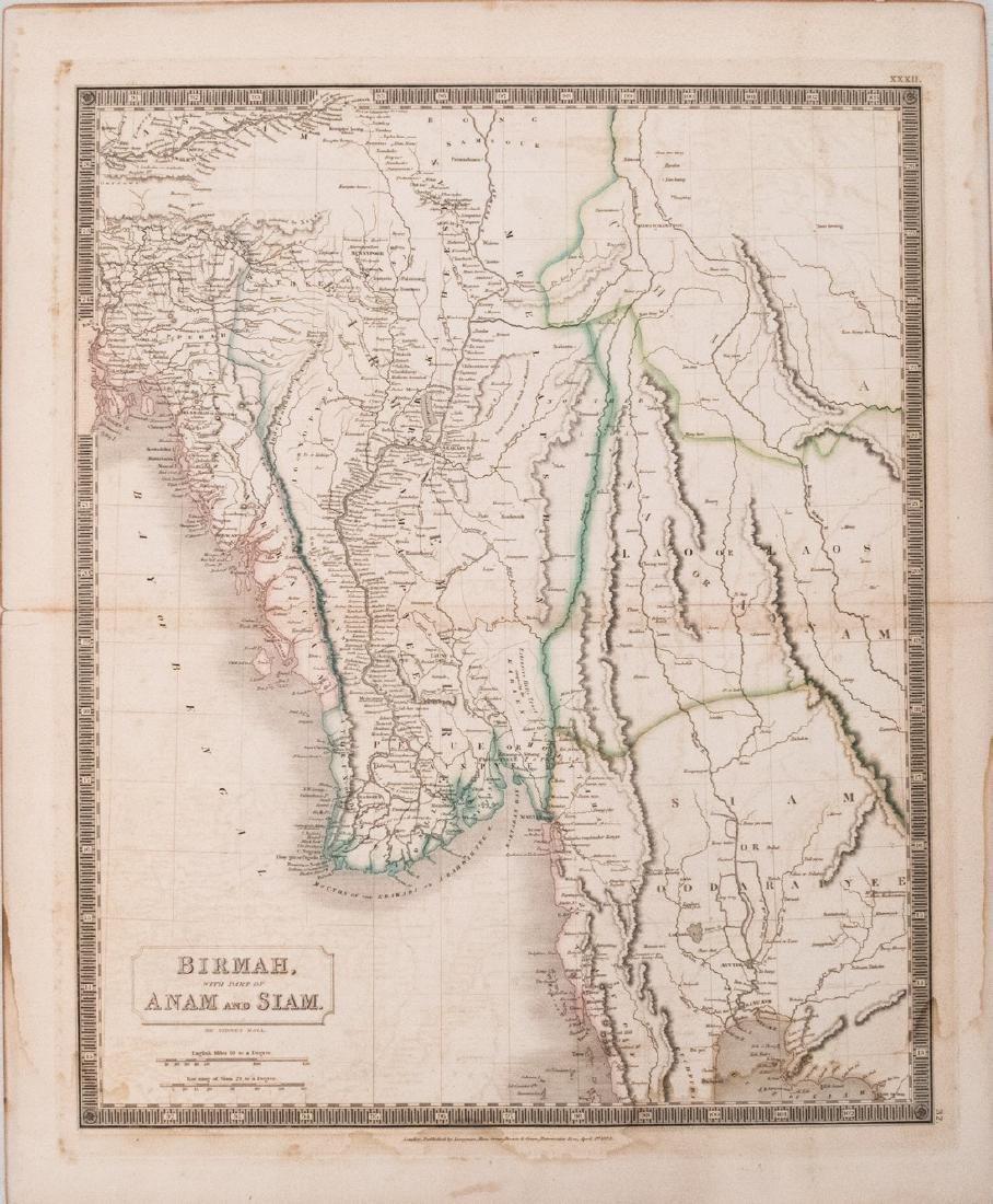1829 Hall Map of South East Asia, incl. Myanmar (Burma)