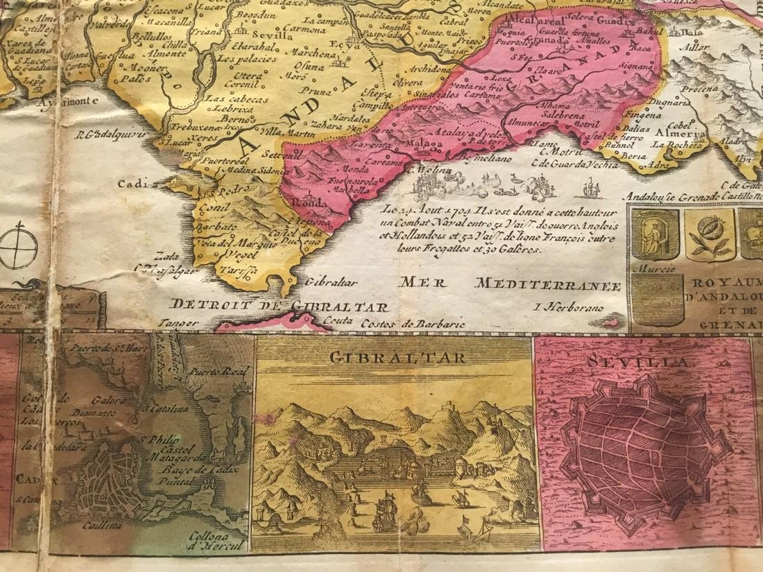 Rare map of Andalusia, Spain. - 2