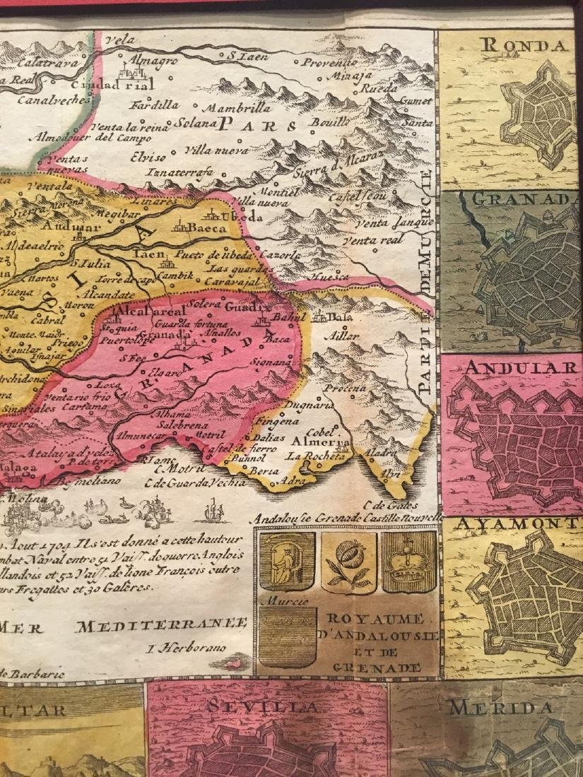 Rare map of Andalusia, Spain. - 3