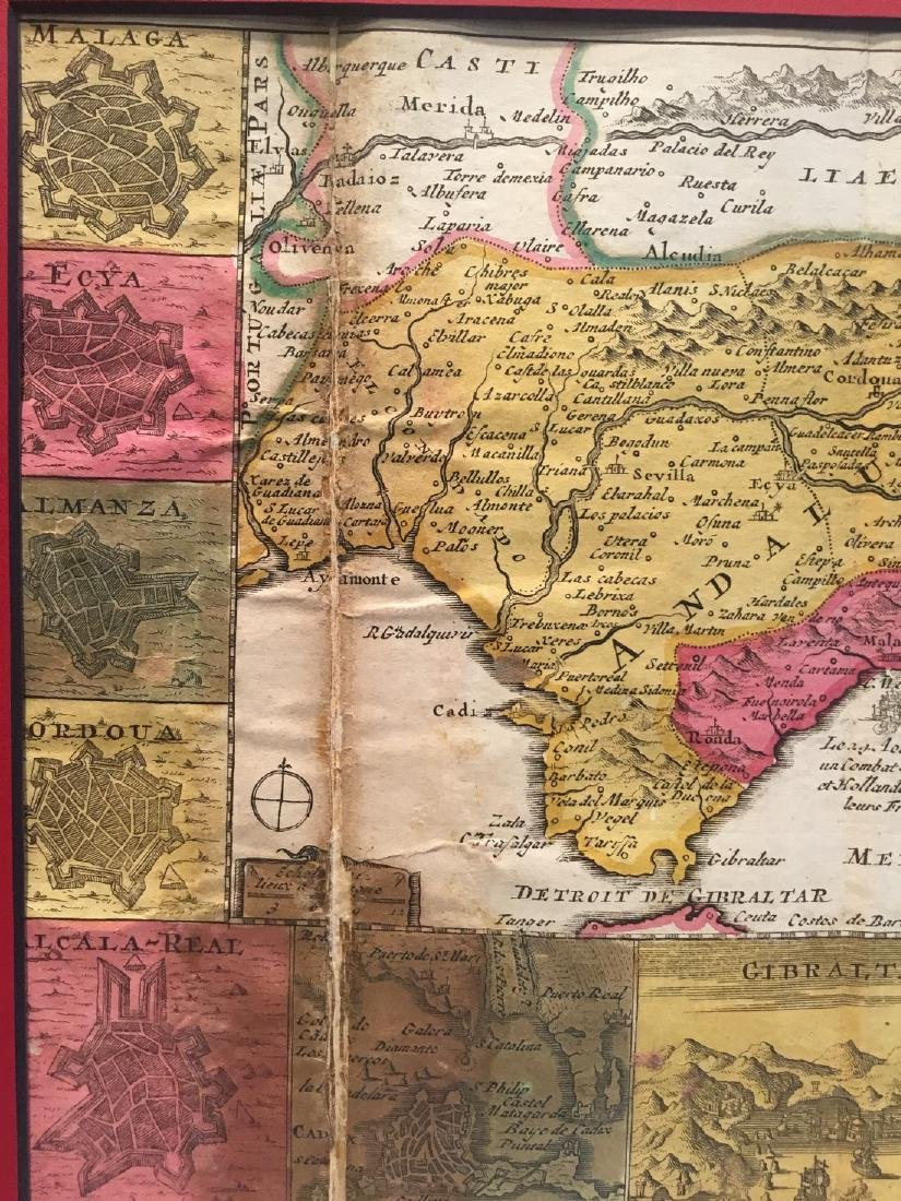 Rare map of Andalusia, Spain. - 4