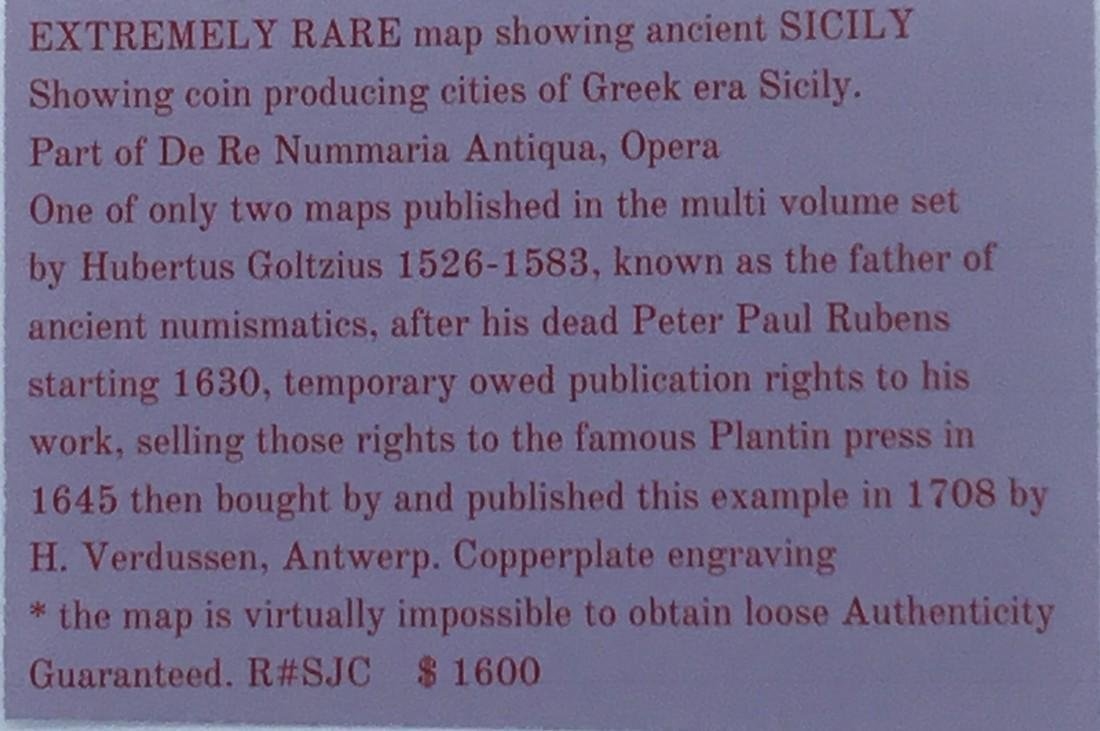 Extremely rare map of Sicily. - 2