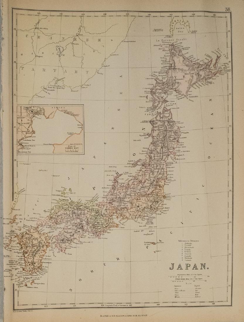 1884 Blackie Map of Japan -- Japan