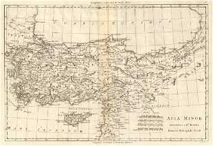 Map Of Upper Asia.Duval Antique Map Of Upper Egypt 1653