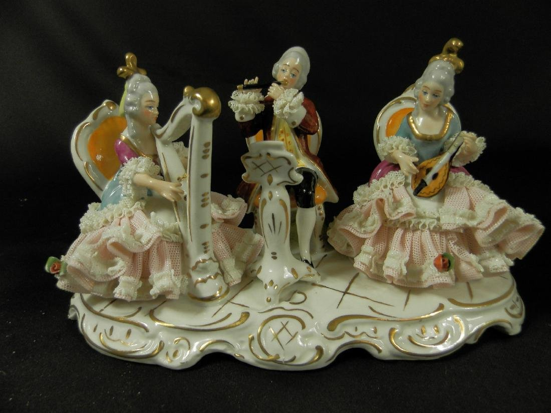 Orchestra group hand painted Dresden Porcelain