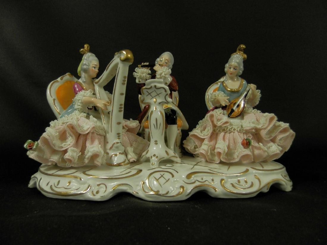 Orchestra group hand painted Dresden Porcelain - 2