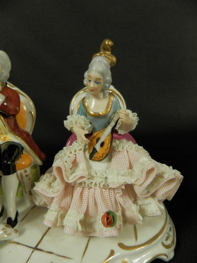 Orchestra group hand painted Dresden Porcelain - 5