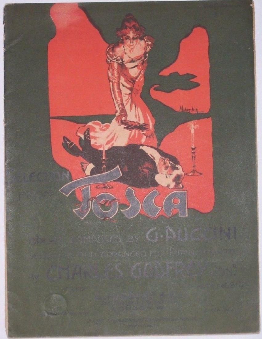 Tosca Opera Sheet Music. Art by Hohenstein - Printed by