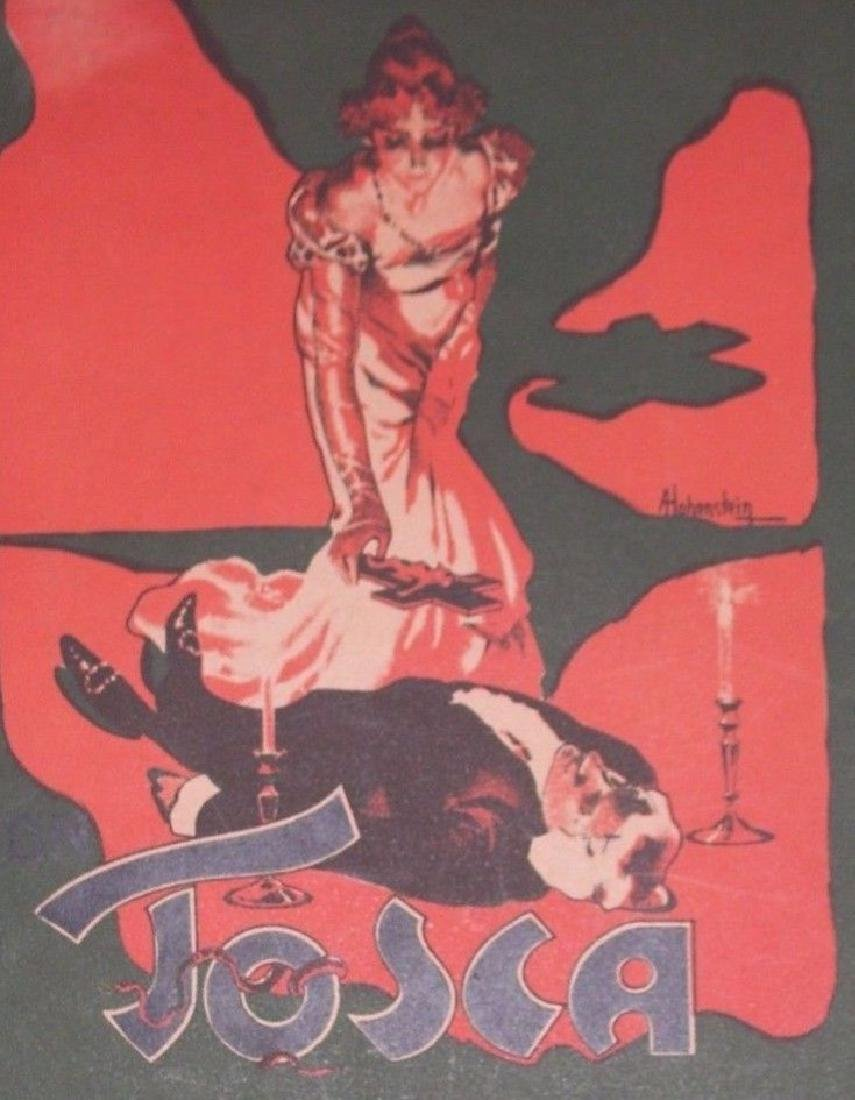 Tosca Opera Sheet Music. Art by Hohenstein - Printed by - 2