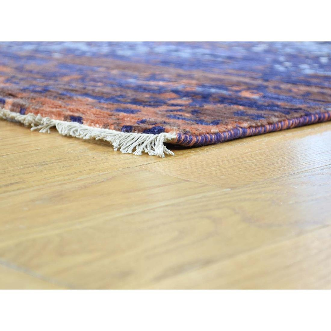 Wool and Silk Modern Broken Design Hand-Knotted Rug - 5