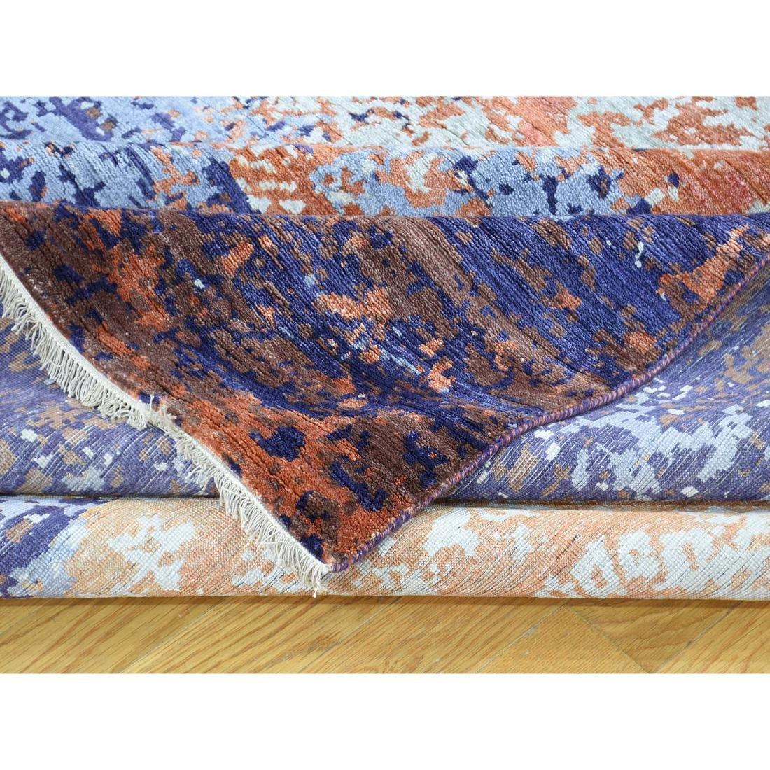 Wool and Silk Modern Broken Design Hand-Knotted Rug - 8
