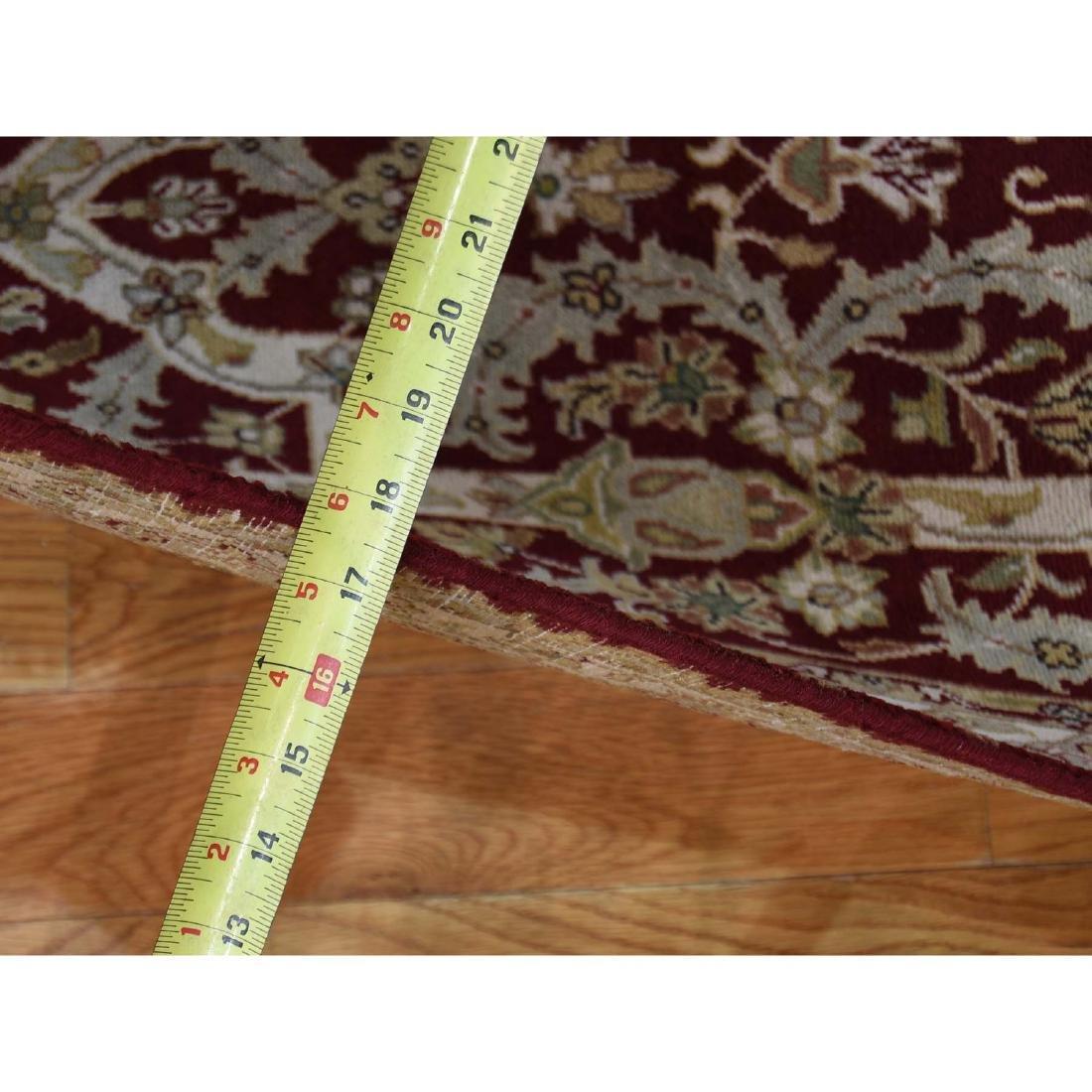 XL Runner Wool and Silk Tabriz Design 300 Kpsi Hand - 10