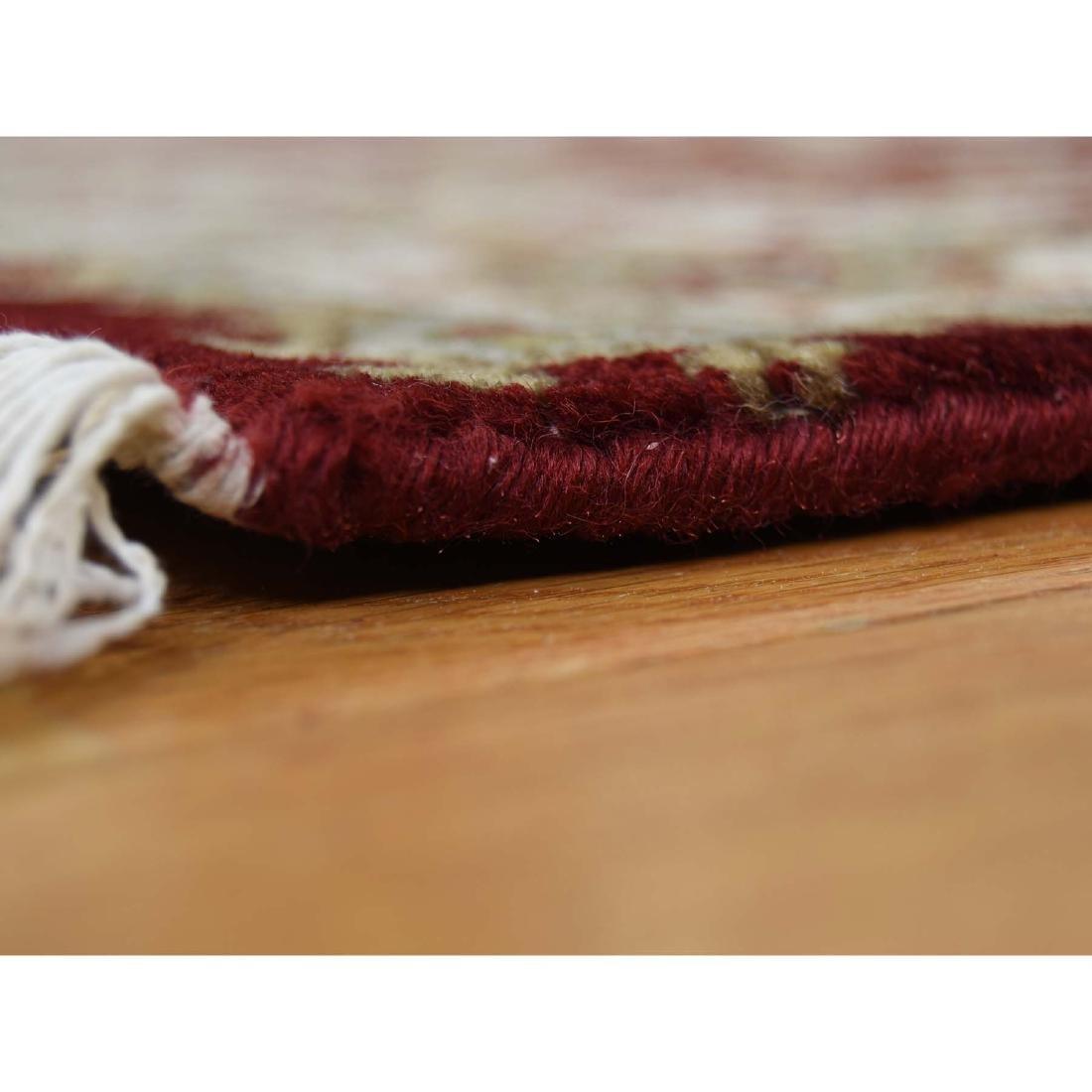 XL Runner Wool and Silk Tabriz Design 300 Kpsi Hand - 4