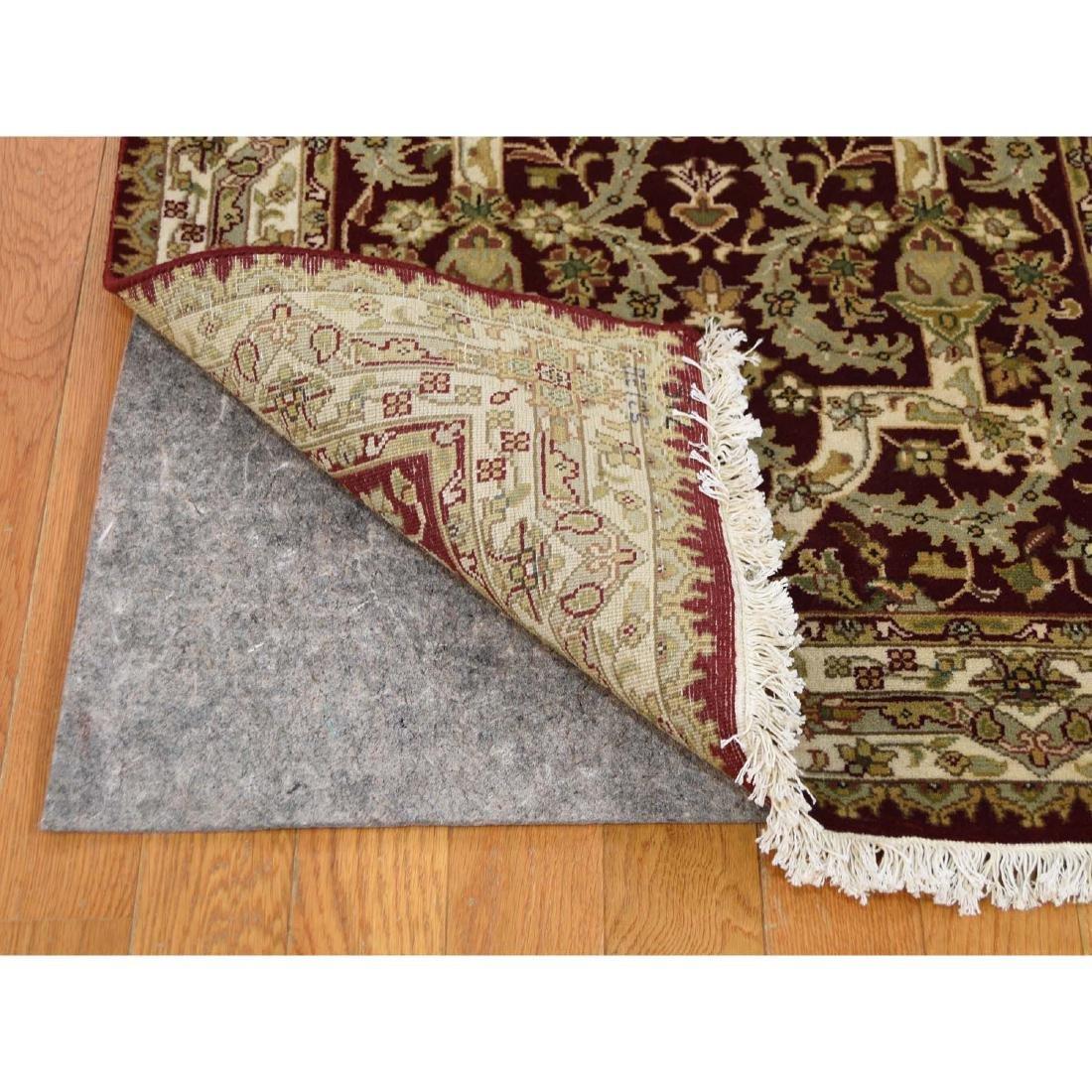 XL Runner Wool and Silk Tabriz Design 300 Kpsi Hand - 5