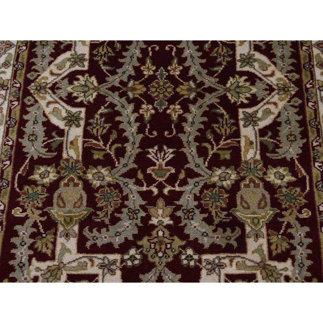 XL Runner Wool and Silk Tabriz Design 300 Kpsi Hand - 8