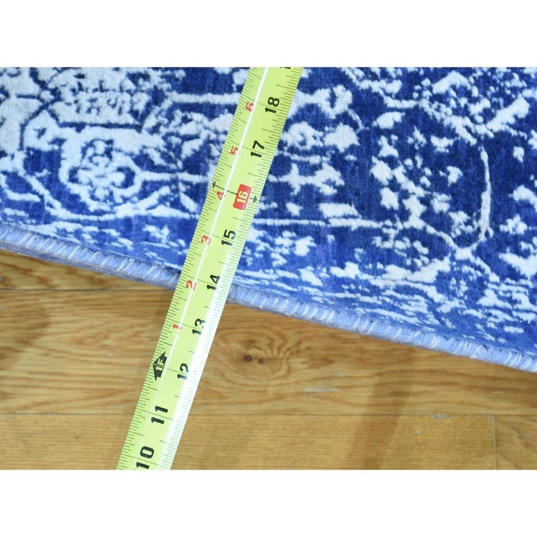 Wool and Silk Hand-Knotted Broken Persian Design Runner - 3
