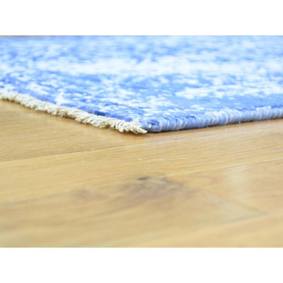 Wool and Silk Hand-Knotted Broken Persian Design Runner - 5