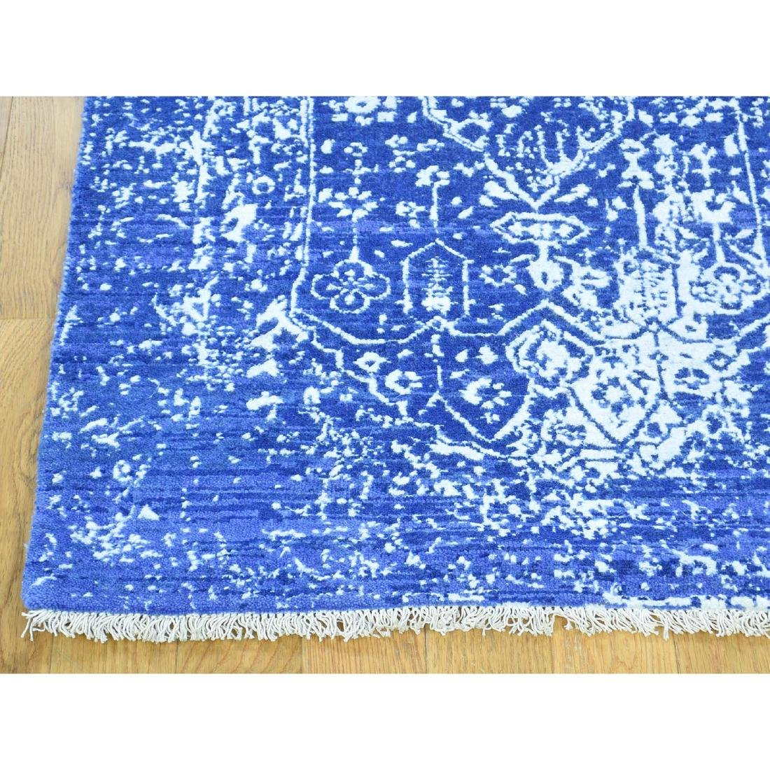 Wool and Silk Hand-Knotted Broken Persian Design Runner - 6