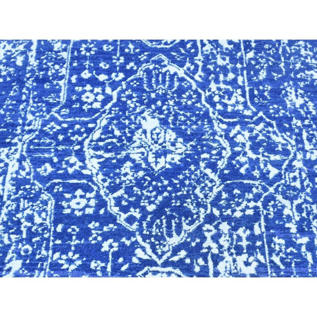 Wool and Silk Hand-Knotted Broken Persian Design Runner - 9