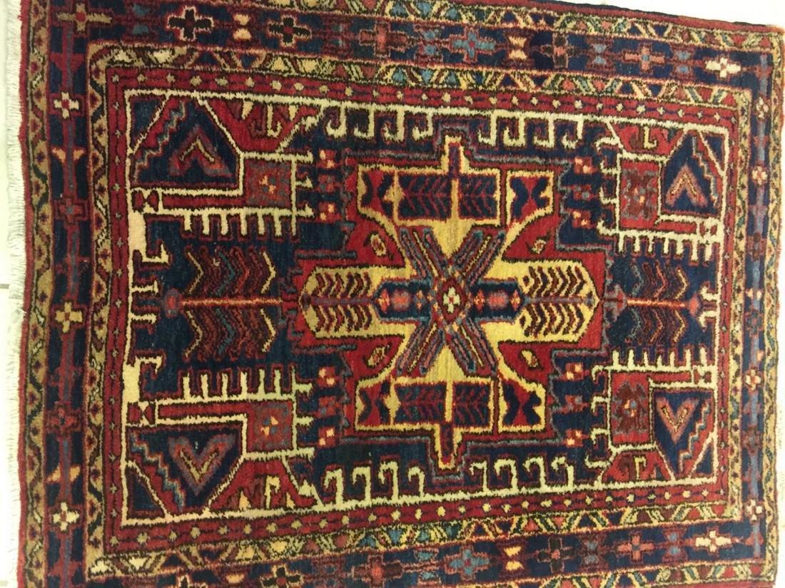 Hand Woven Persian Rug Heriz 4.7x3.8