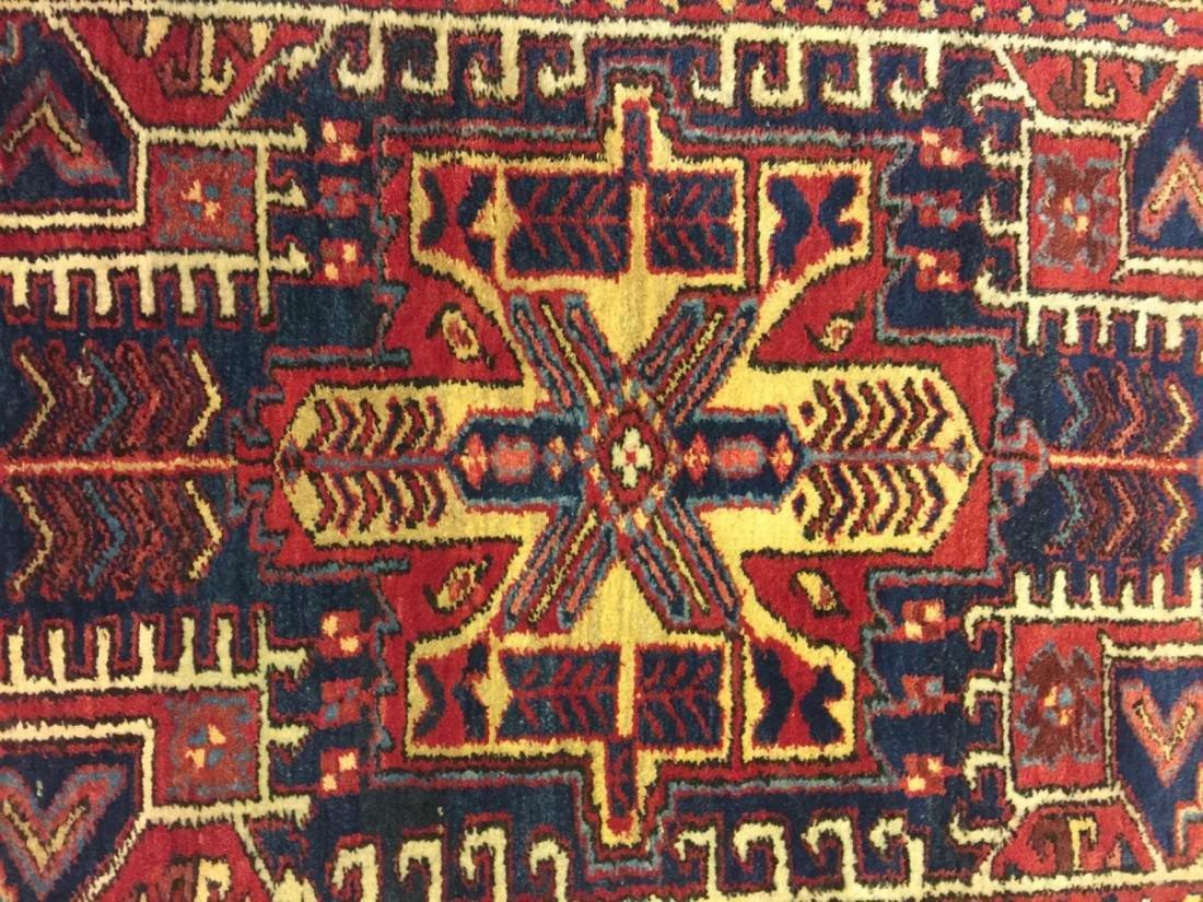 Hand Woven Persian Rug Heriz 4.7x3.8 - 2