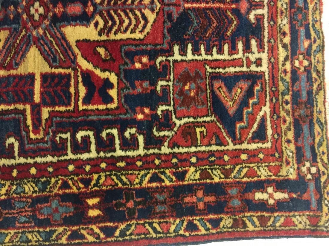 Hand Woven Persian Rug Heriz 4.7x3.8 - 3