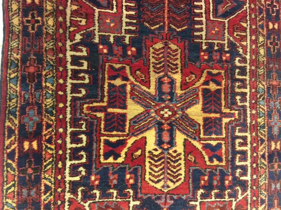 Hand Woven Persian Rug Heriz 4.7x3.8 - 4