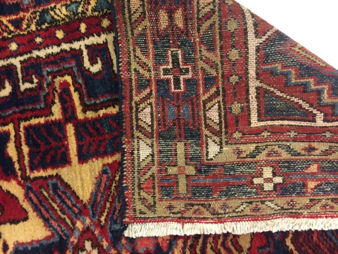 Hand Woven Persian Rug Heriz 4.7x3.8 - 5