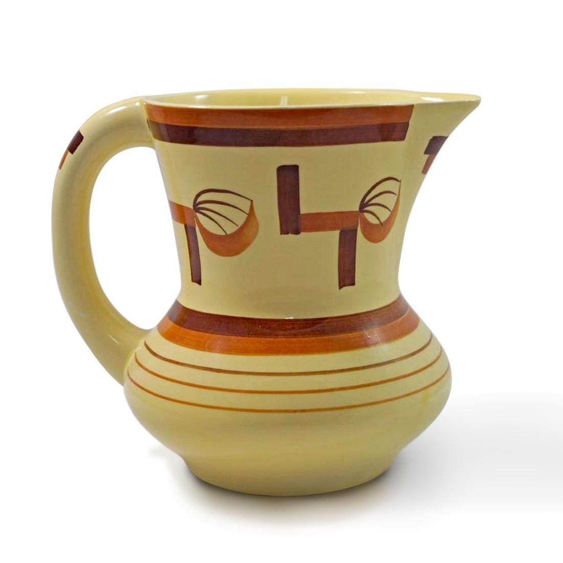 Airbrush Art Deco Pottery German Pitcher