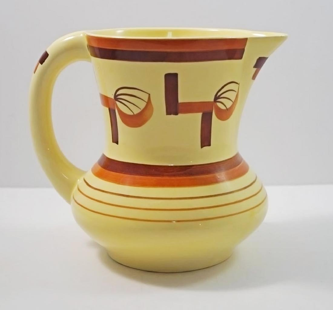 Airbrush Art Deco Pottery German Pitcher - 3