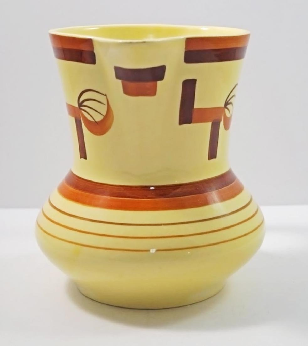 Airbrush Art Deco Pottery German Pitcher - 4