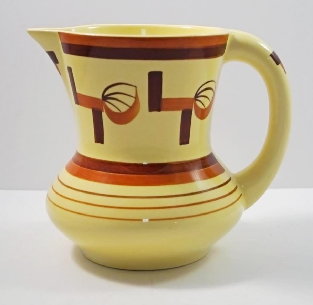 Airbrush Art Deco Pottery German Pitcher - 5