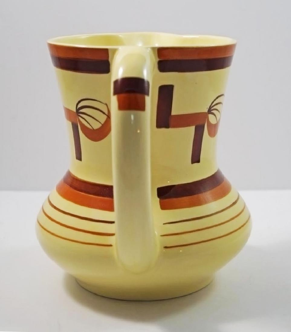 Airbrush Art Deco Pottery German Pitcher - 6