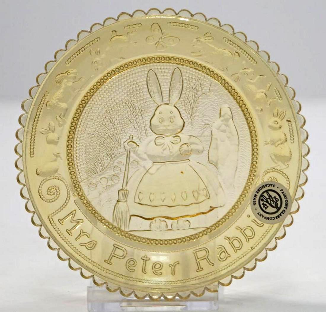 Vintage Mrs. Rabbit Pairpoint Cup Plate - 3