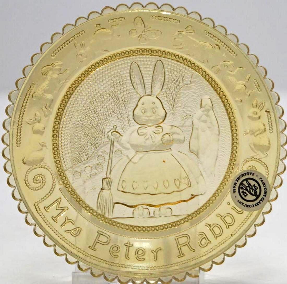 Vintage Mrs. Rabbit Pairpoint Cup Plate - 4