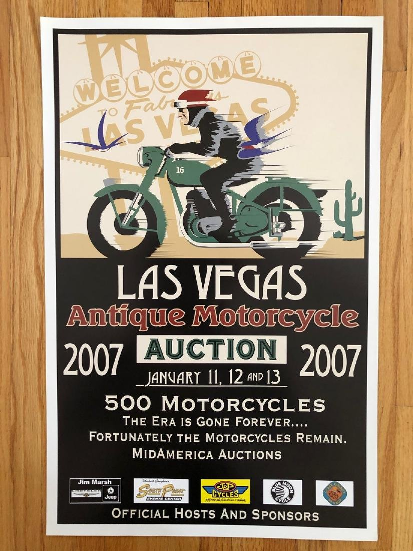 2007 LAS VEGAS ANTIQUE MOTORCYCLE AUCTION & RACE POSTER