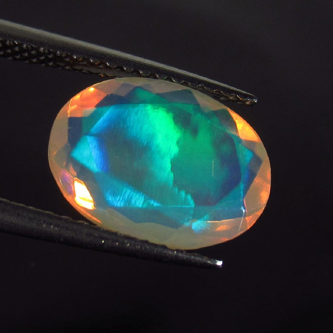 1.69 Ct Genuine Ethiopian Faceted Opal 11X8.5 mm Oval