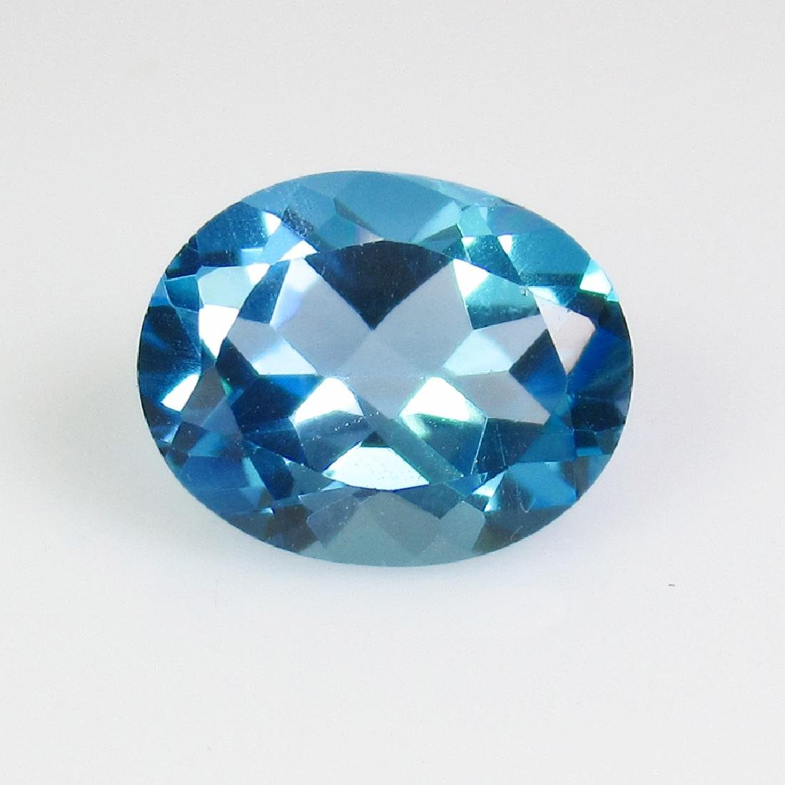 3.31 Ct Genuine Swiss Blue Topaz 10X8 mm Oval Cut