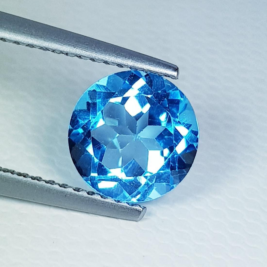 Natural Blue Topaz Round Cut 2.35 ct