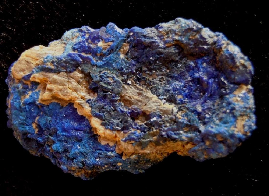 BLUE AZURITE ON SCHIST MATRIX