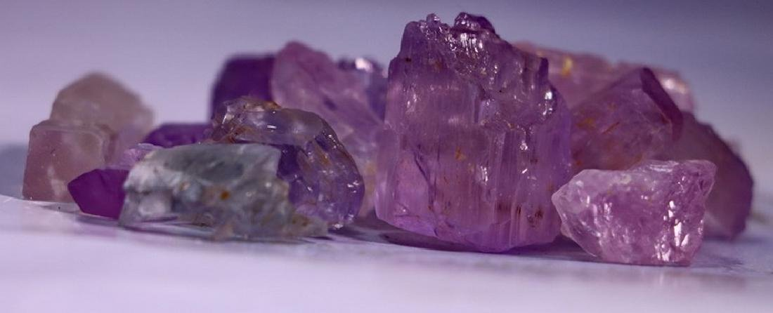 Natural & Unheated~Purple Pink Kunzite Rough Lot