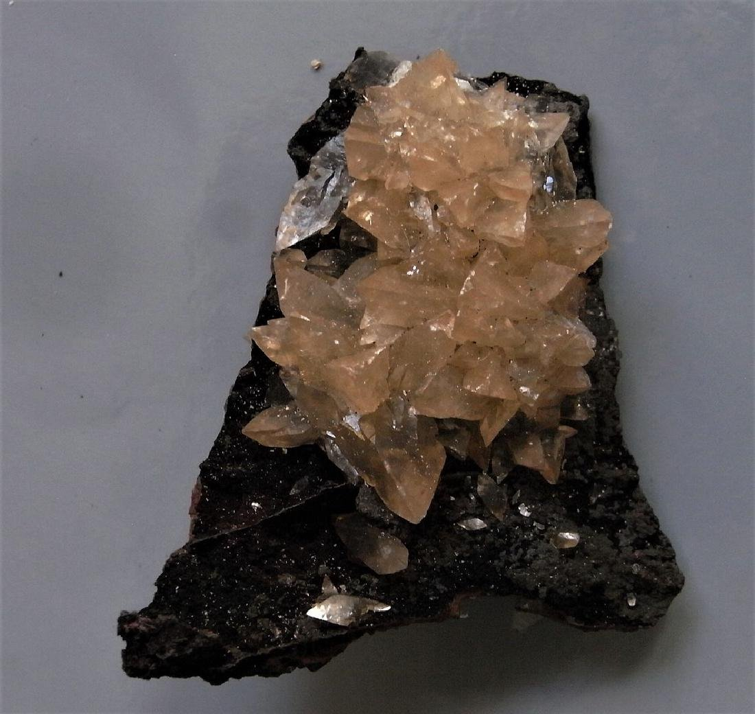 GEMMY DOGTOOTH CALCITE CLUSTERS ON BOTH SIDES