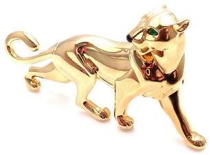 Authentic! Cartier Panther Panthere 18k Yellow Gold