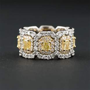 Platinum and 18k Yellow Gold Eternity Style Diamond